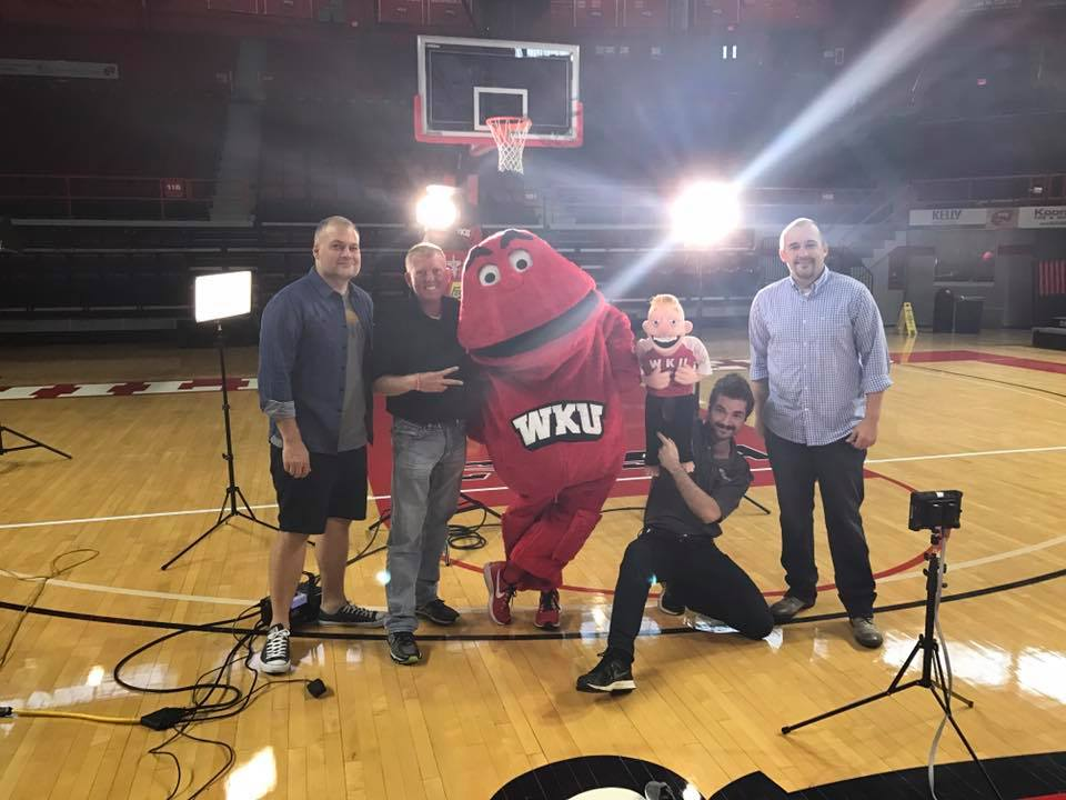 WKU Bed Giveaway Commercial Shoot Trent Bedding